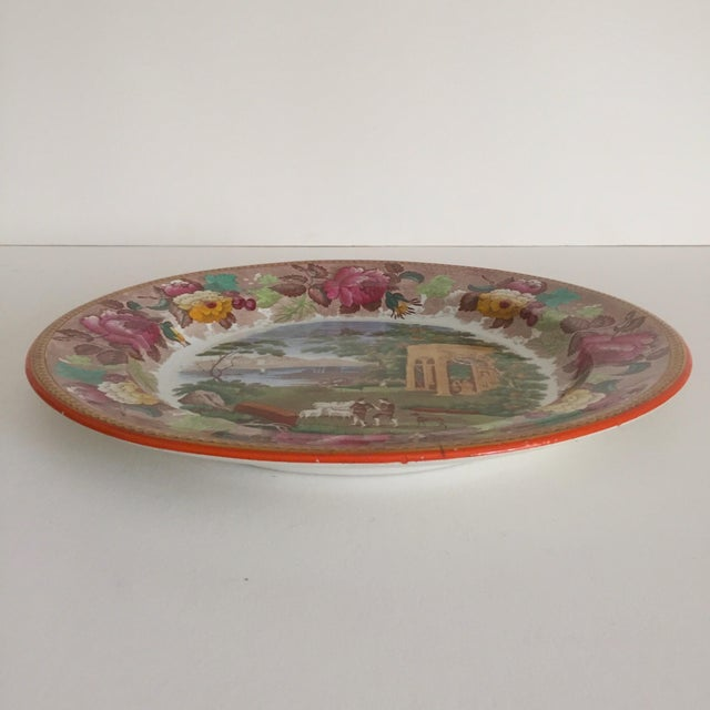 Antique Wedgwood Transferware Neoclassical Floral Ceramic Plate For Sale In New York - Image 6 of 11