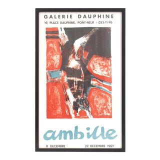 Framed 1967 Paul Ambille Exhibition Poster For Sale