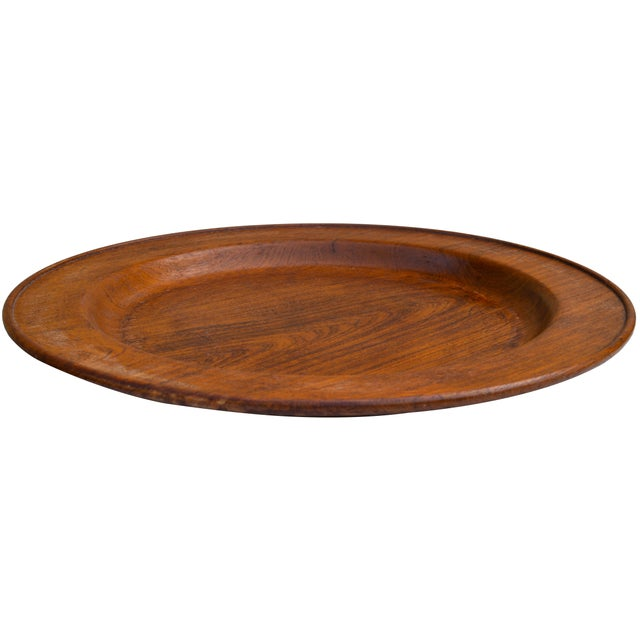 Mid 20th Century Handcarved Rosewood Tray-Top Table For Sale - Image 5 of 7
