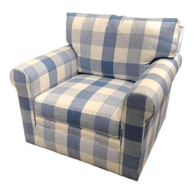 21st Century Scalamandre Swivel Chair For Sale