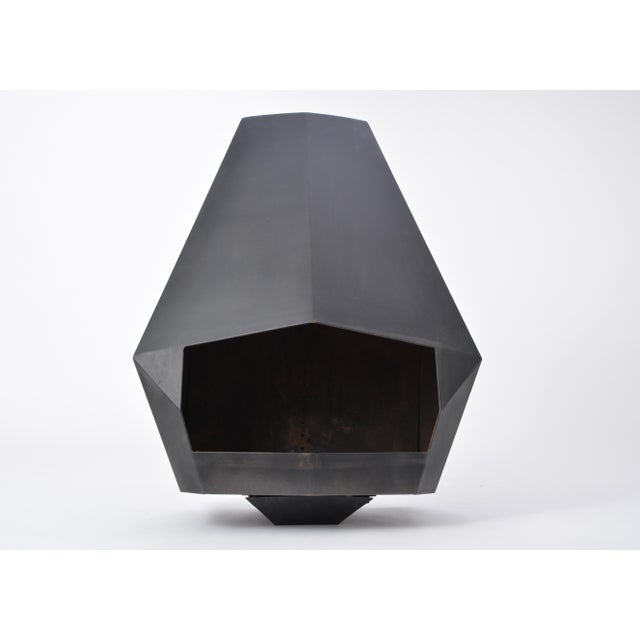 Late 20th Century Model 5005 Mid-Century Modern Steel Fireplace From Don-Bar Design, 1970s For Sale - Image 5 of 12