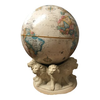 Replogle Globe on Table Stand With Lion Gargoyles For Sale
