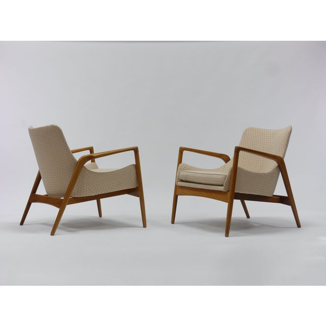 Pair of Lounge Chairs by Ib Kofod Larsen For Sale - Image 9 of 11