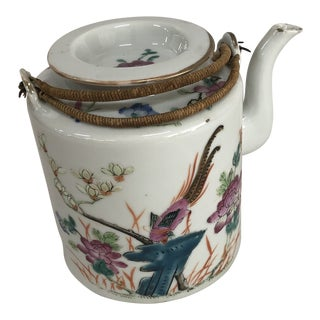 Mid 19th Century Antique Chinese Porcelain Teapot For Sale