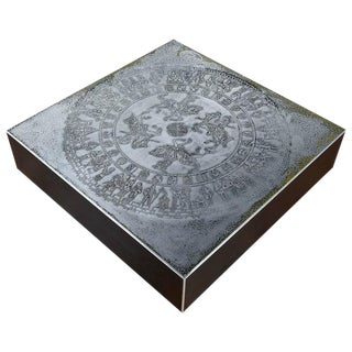 Modern Metal Knight Coffee Table For Sale