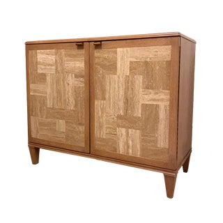 Drexel Heritage Hermoine Travertine Hall Chest For Sale