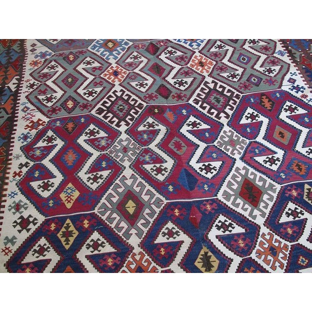 Mid 19th Century Antique Aksaray Kilim For Sale - Image 5 of 10