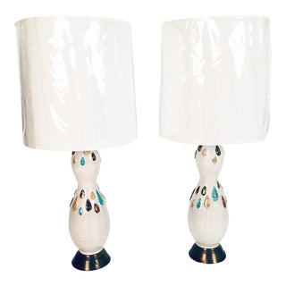 Pair of Bitossi Ceramic Lamps For Sale