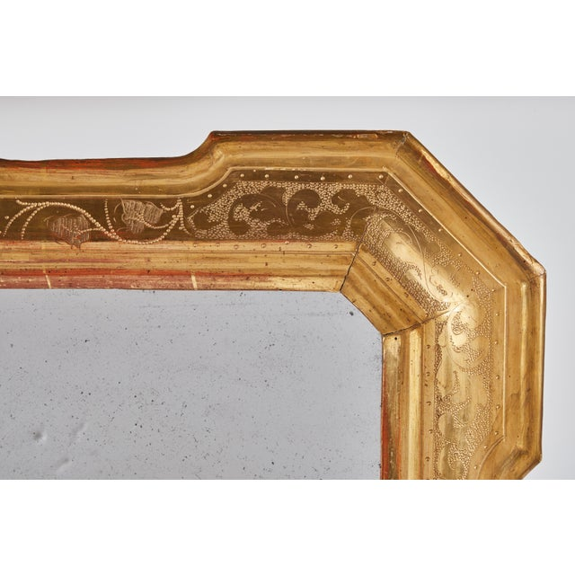 Hollywood Regency 18th Century Gilt Italian Mirror From Lombardy For Sale - Image 3 of 8