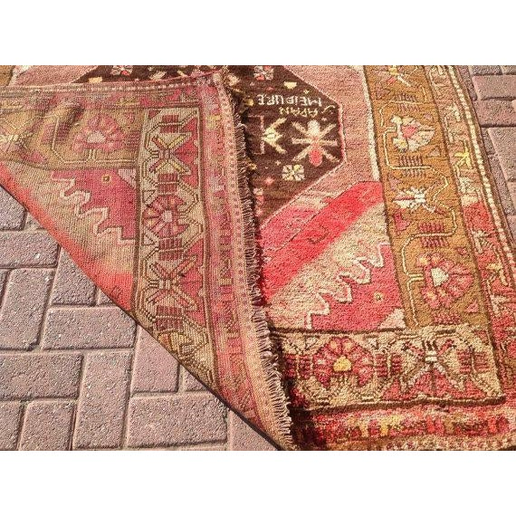 Vintage Anatolian Rug - 5′3″ × 13′4″ For Sale In Raleigh - Image 6 of 6