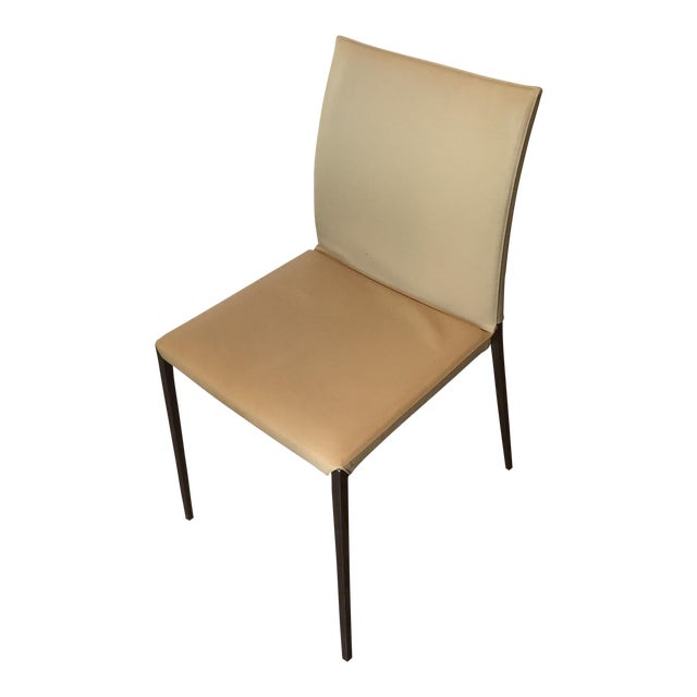 Zanotta Lia Chair in Leather For Sale
