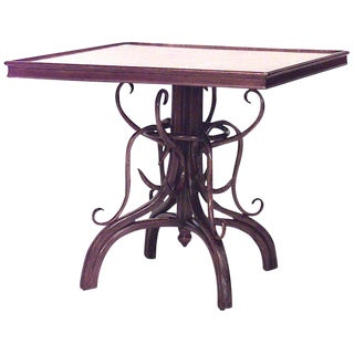 Bentwood Walnut Scroll Game Table For Sale