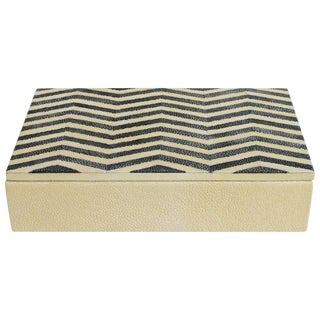 Fabio Ltd Ivory and Black Shagreen Box For Sale