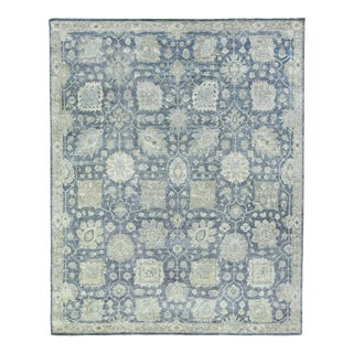 Exquisite Rugs, Evie, Hand Knotted, Wool, Blue - 8'x10' For Sale