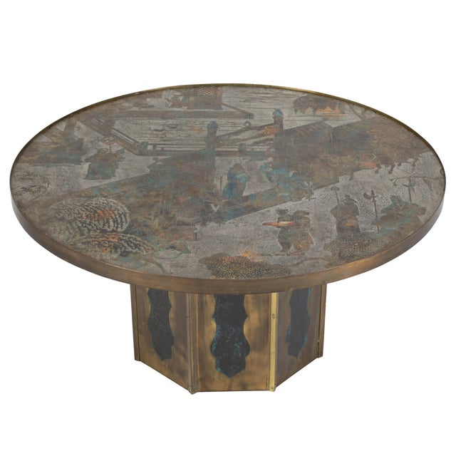 "Signed ""Chan"" Coffee Table by Philip and Kelvin LaVerne C. 1960s For Sale - Image 13 of 13"