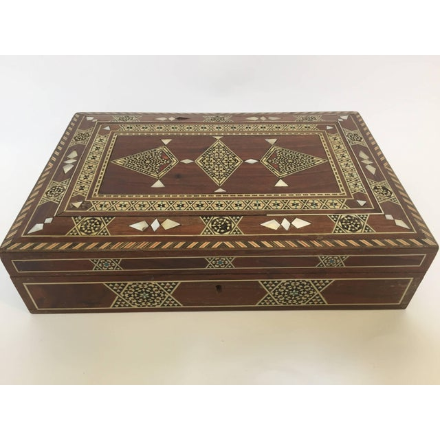 Large Islamic Syrian Wooden Micro Mosaic Box For Sale - Image 12 of 13