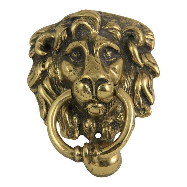 Antique Brass Lion Head Door Knocker - Antique Brass Lion Head Door Knocker Chairish