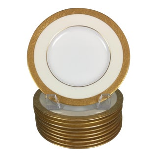 20th Century English Traditional Minton for Tiffany & Co Gold Rim Bread Plates - Set of 10 For Sale