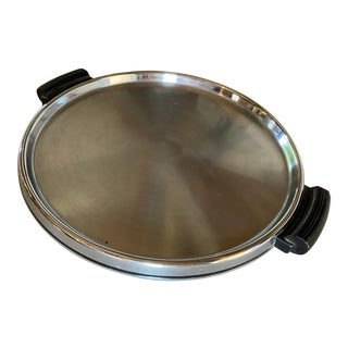 Art Deco Chrome Serving Tray For Sale