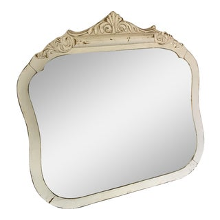 Vintage White Distressed Mirror