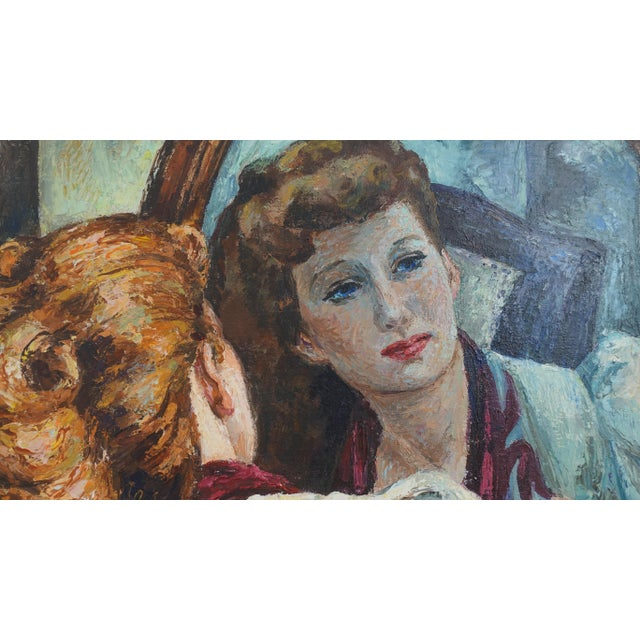 Portrait Painting of a Woman's Reflection, American 1940's For Sale In San Francisco - Image 6 of 9