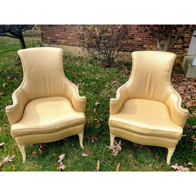Victorian Scroll Back Arm Chairs - a Pair For Sale In Columbus - Image 6 of 7