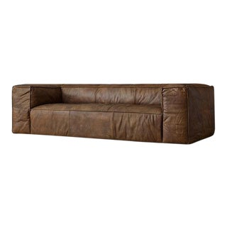 Square Leather Sofa For Sale