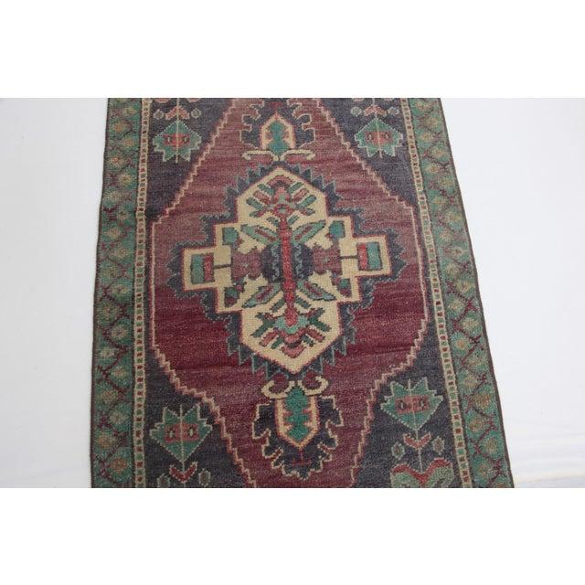 1960s 1960s Vintage Turkish Handmade Rug - 1′8″ × 3′1″ For Sale - Image 5 of 11