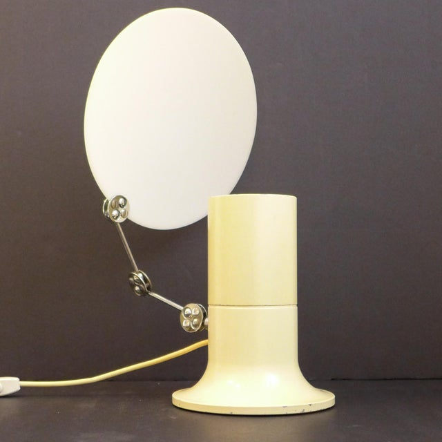 """Aureola"" lamp of plastic, chrome and lacquered metal by Italian designer Ivo Sedazzari. Produced by Prisma, circa 1970...."