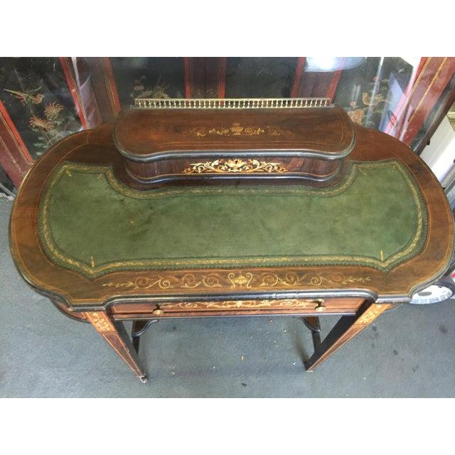 Edwardian Inlaid Edwardian Desk For Sale - Image 3 of 13