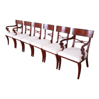 Baker Furniture Regency Mahogany Dining Chairs, Set of Six For Sale