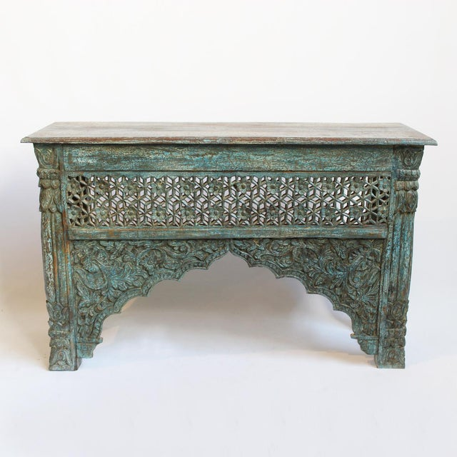 Architectural Carved Console Table - Image 2 of 6