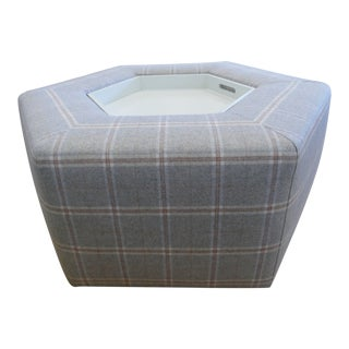 Custom Ottoman With Pull Out Tray For Sale