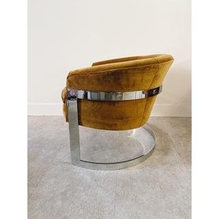 1960s Vintage Milo Baughman Cantilever Chrome Barrel Chair Preview