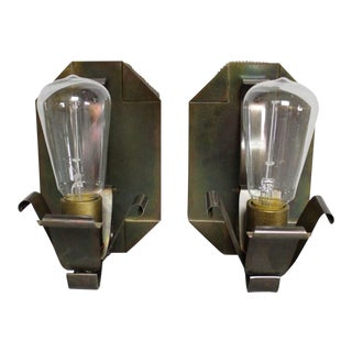 American Arts & Crafts Sconces (Two Available) For Sale
