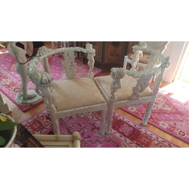 Late 19th Century 19th Century Style Fois Bois Carved Chairs For Sale - Image 5 of 9