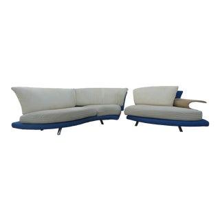 Modern Giorgio Saporiti Il Loft Post Modern Sofa For Sale