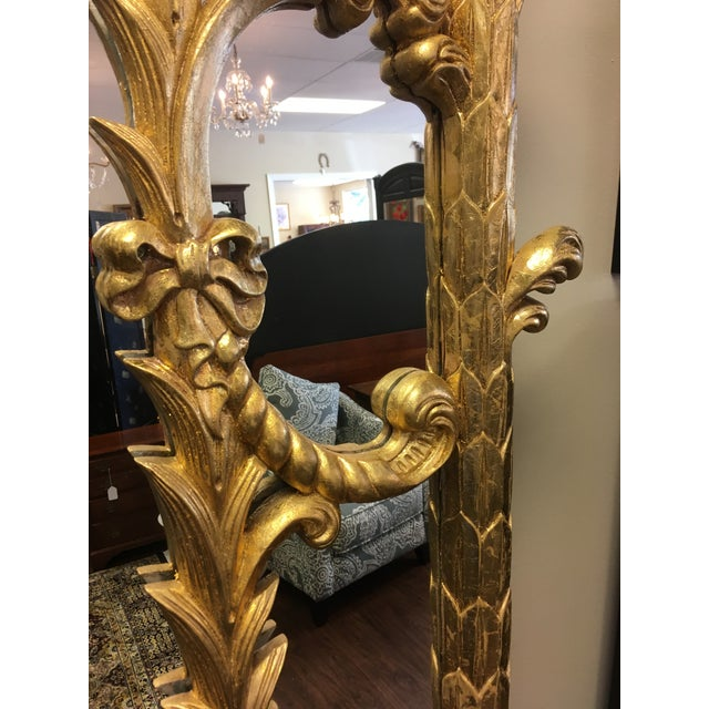 1990s Vintage Italian Gilded Pier Mirror For Sale - Image 10 of 13