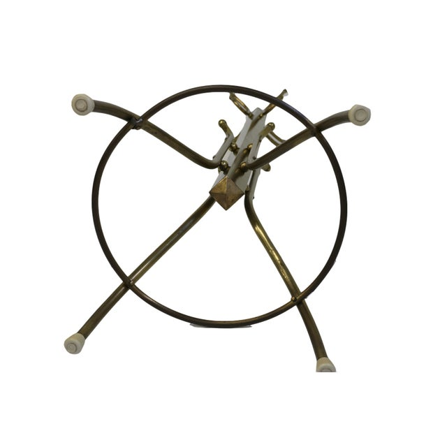 Mid-Century Coat and Hat Stand in Brass - Image 4 of 5