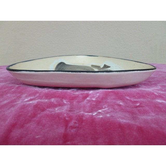 Mid-Century Modern 1960s Vintage Philippe Lambercy Studio Pottery Tri-Corner Dish For Sale - Image 3 of 6
