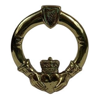 Mid-Century Irish Brass Door Knocker For Sale