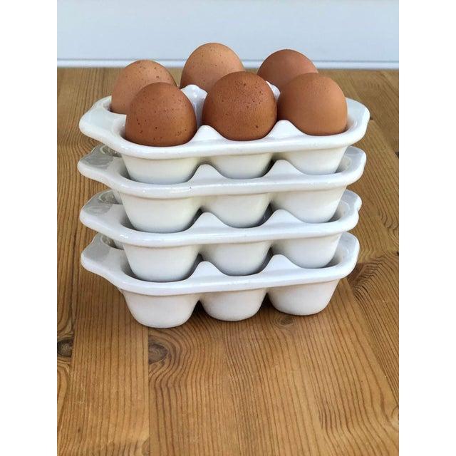 Italian Ceramic Egg Cartons - Set of 4 For Sale - Image 10 of 12
