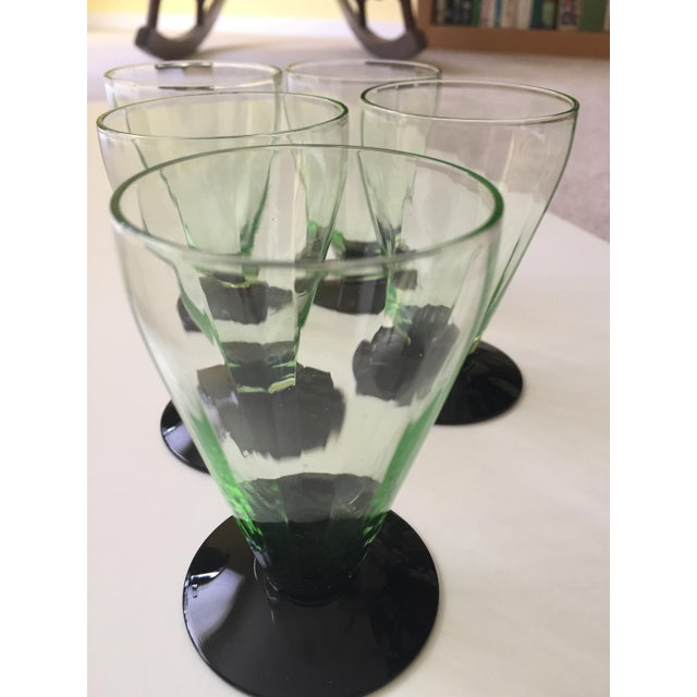 Emerald Green Cocktail Glasses - Set of 6 - Image 3 of 5