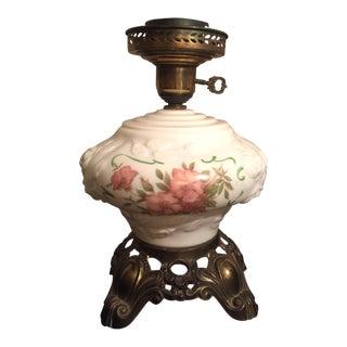 Hand Painted Hurricane Lamp