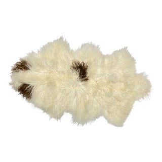 Tibetan Lamb Natural Curly Fur Throw / Rug For Sale