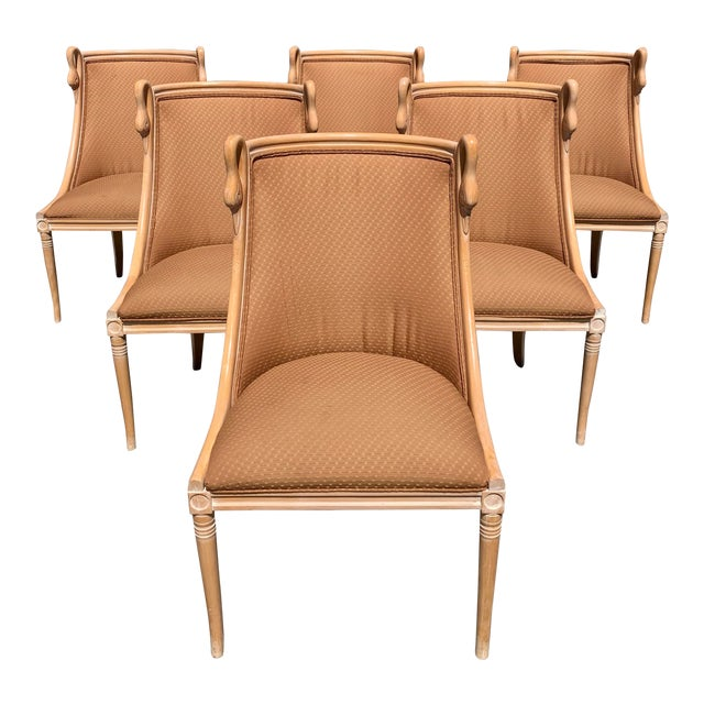 """Mid-Century Modern """"Gondola"""" Swan Neck Dining Chairs - Set of 6 For Sale"""