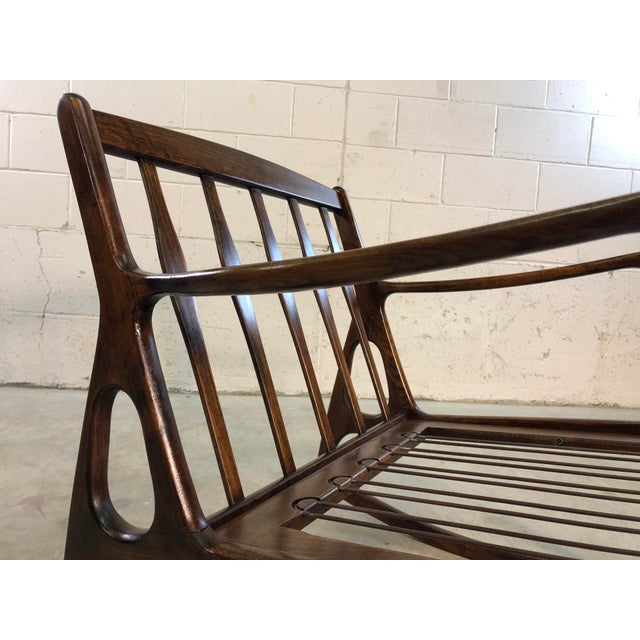 Vintage Italian Beech Wood Rocking Chair For Sale - Image 9 of 13