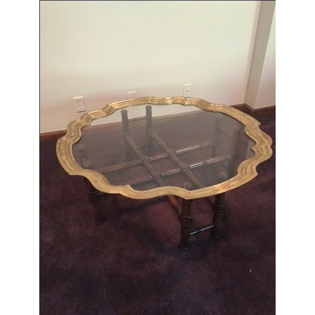 Baker Furniture Paris Coffee Table: Vintage Baker Furniture Brass & Glass Coffee Table