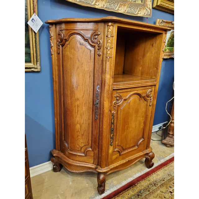 Magnificent French Louis XV music, or file cabinet, it was custom made to match a sideboard. On the left side it has six...