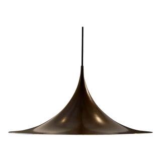 Semi Pendant Enameled Metal Light by Torsten Thorup & Claus Bonderup For Sale